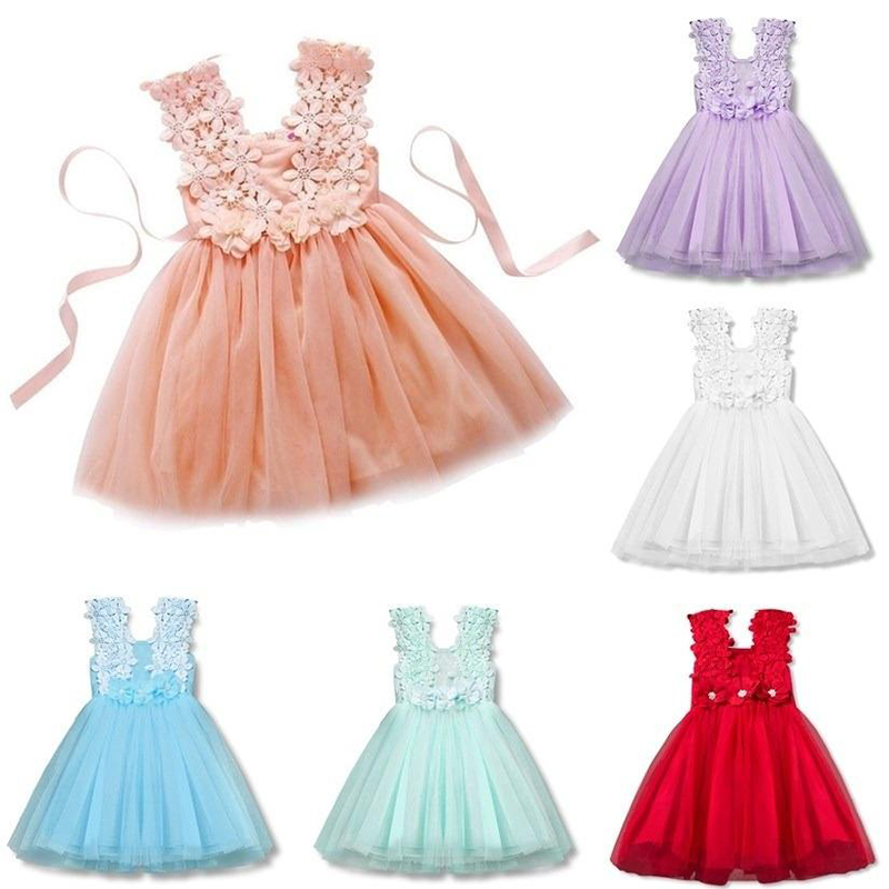 White Princess Dress for Kids Girls Clothing 2019 Summer Baby Party Dresses Elegant Ceremony 1 4 5 6 7Years Teenage Girl Costume