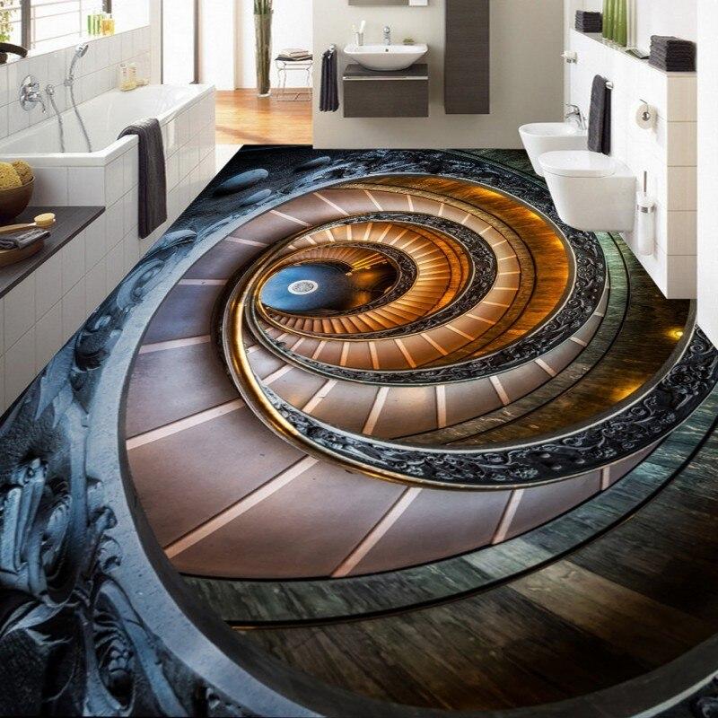 Dropshipping Fatman 3D Floor Painting Custom Self-Adhesive High-Quality Waterproof Lobby Bedroom Wallpaper Studio Bathroom Mural