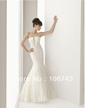 2016 free Shipping Long Maxi Mermaid Theme New Sexy Bride Custom Size white ivory off the shoulder handmade Lace Wedding Dresses