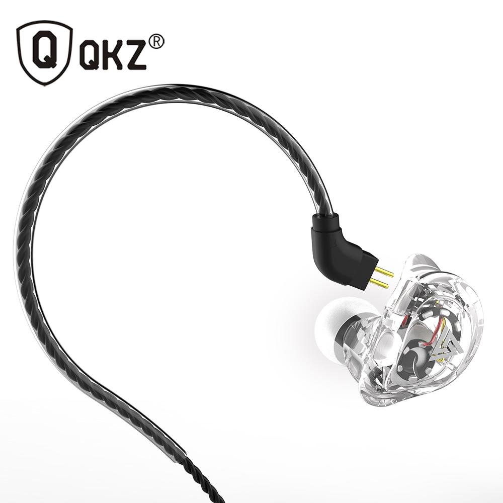 QKZ VK1 наушники с 4DD в ухо наушники fone de ouvidoauriculares audifonos HIFI DJ Monito кроссовки спортивные ушной гарнитуры