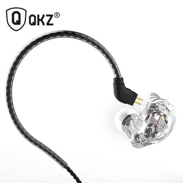 QKZ VK1 écouteurs avec 4DD dans loreille écouteurs fone de ouvidoauriculares audifonos HIFI DJ Monito en cours dexécution Sport écouteurs casque