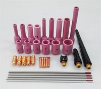 Best Price 33PCS Gas Lens TIG Welder Nozzle Insulator Cup TIG Consumables Accessories KIT TIG Welding