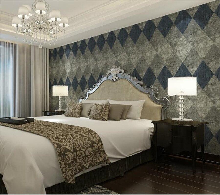 Beibehang américain rétro Nonwovens papier peint salon café hôtel KTV TV fond d'écran pour salon peintures murales papier