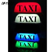 IZTOSS Taxi Top Ánh Sáng/New DẪN Mái Dấu Hiệu Taxi 12 V với Cơ Sở Từ Tính Xanh/Đỏ/Xanh/trắng tùy chọn