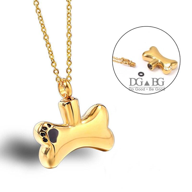 Mini souvenir animal de compagnie chien os urne collier mémorial urne crémation cendres souvenir funérailles mémoriaux bijoux pour cendres de chat