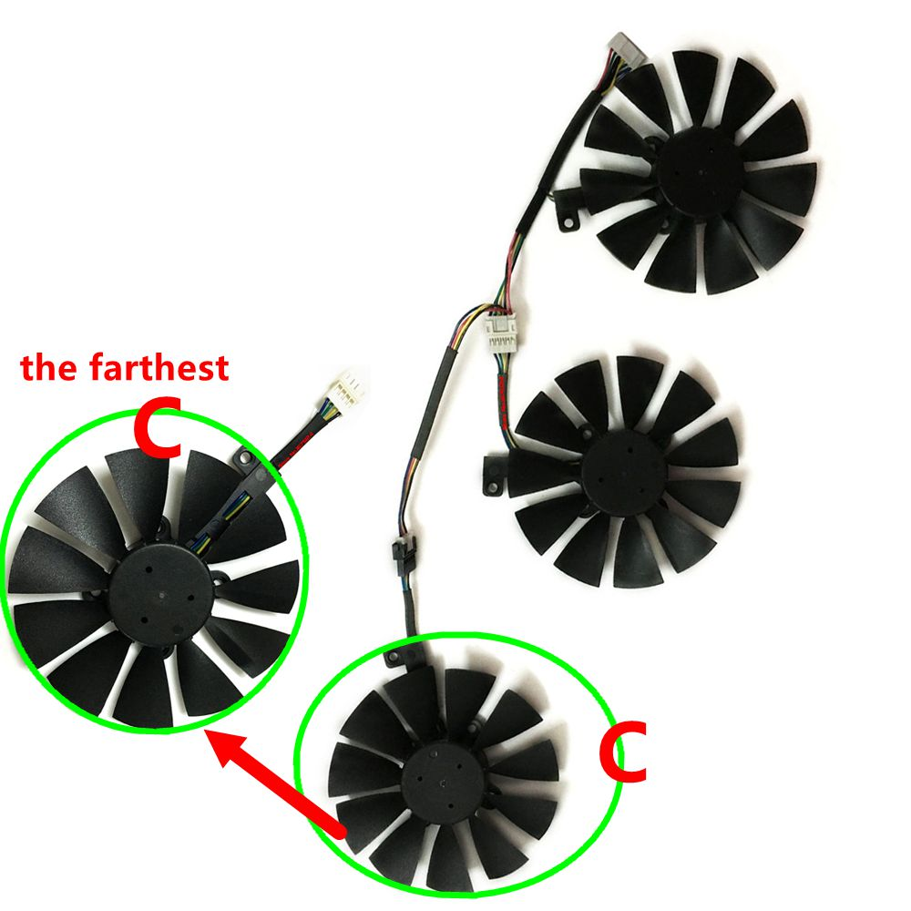Купить с кэшбэком T129215SU 87MM rx 480 580 VGA Cooler Graphics Fan For ASUS STRIX R9 390X/R9 390 RX480 RX580 Video Cards Cooling