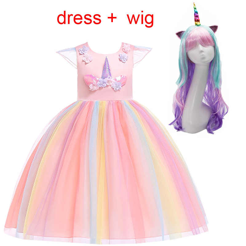 Moda 2019 My Little Girl unicornio fiesta niño Navidad princesa vestido niños vestidos para niñas tutú vestido elegante disfraz