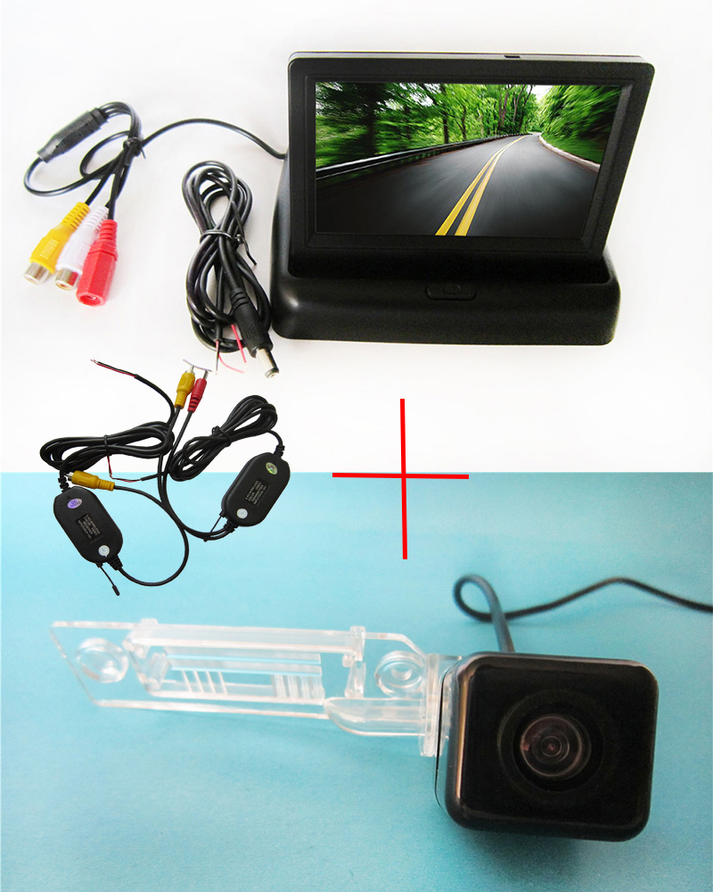 Wirelelss Car Rear View Camera for VW Golf Passat Touran Caddy Superb T5 Transporter Multivan with