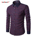 Gustomerd Patchwork New Fashion Brand Casual Men Shirt Long Sleeve Slim Fit Mens Dress Shirts Business Social Shirt Men