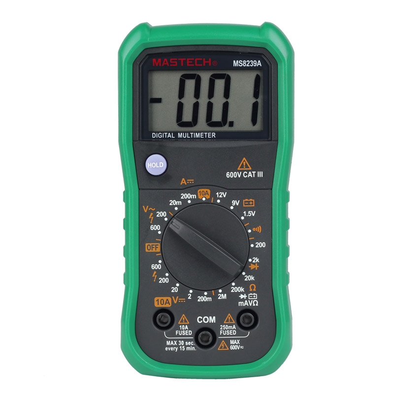mastech ms8239a digital multimeter lcd mini dmm ac dc voltmeter dc ammeter ohmmeter meter tester. Black Bedroom Furniture Sets. Home Design Ideas