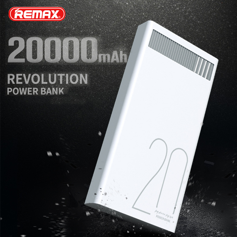 Remax RPL-58 Quick Charge 20000mAh Pover Bank Dual USB Fast Charging Portable External Batteries Universal Mobile Phone Charger