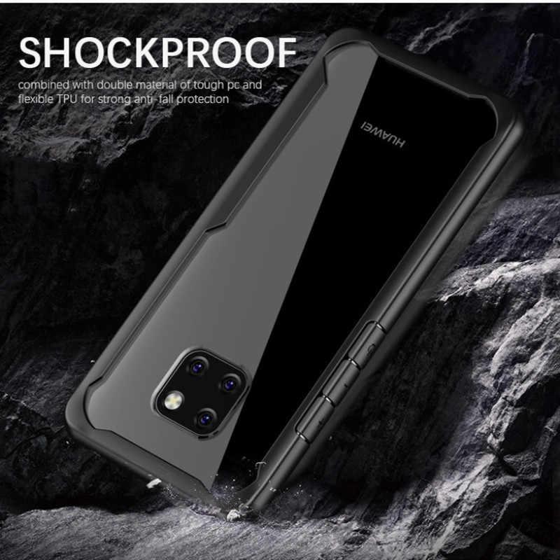 Гибридный акрил чехол для телефона для Huawei Mate 10 20 P20 P30 Lite Pro P Смарт плюс Nova 2i 3i 3e 4 Y6 2018 Y9 2019 Ясно Тонкий принципиально