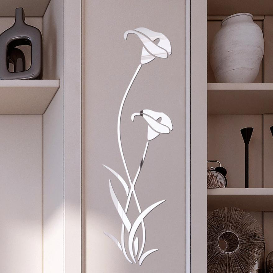3d diy flower shape acrylic wall sticker modern stickers - Removable wall stickers living room ...