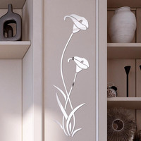 3D Diy Flower Shape Acrylic Wall Sticker Modern Stickers Decoration Living Room Removable Mural Wallpaper Art Decals Home Decor