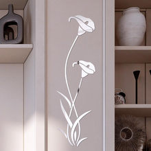 3D Diy Flower Shape Acrylic Wall Sticker Modern Stickers Decoration Living Room Removable Mural Wallpaper Art Decals Home Decor(China)