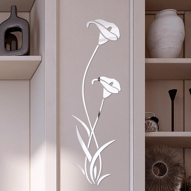 Acrylic Flower Wall Decal (Removable)