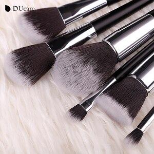 Image 5 - DUcareแปรงแต่งหน้า10PcsคุณภาพสูงชุดแปรงProfessional Make Upแปรงสีดำกระเป๋าความงามEssentialแปรง