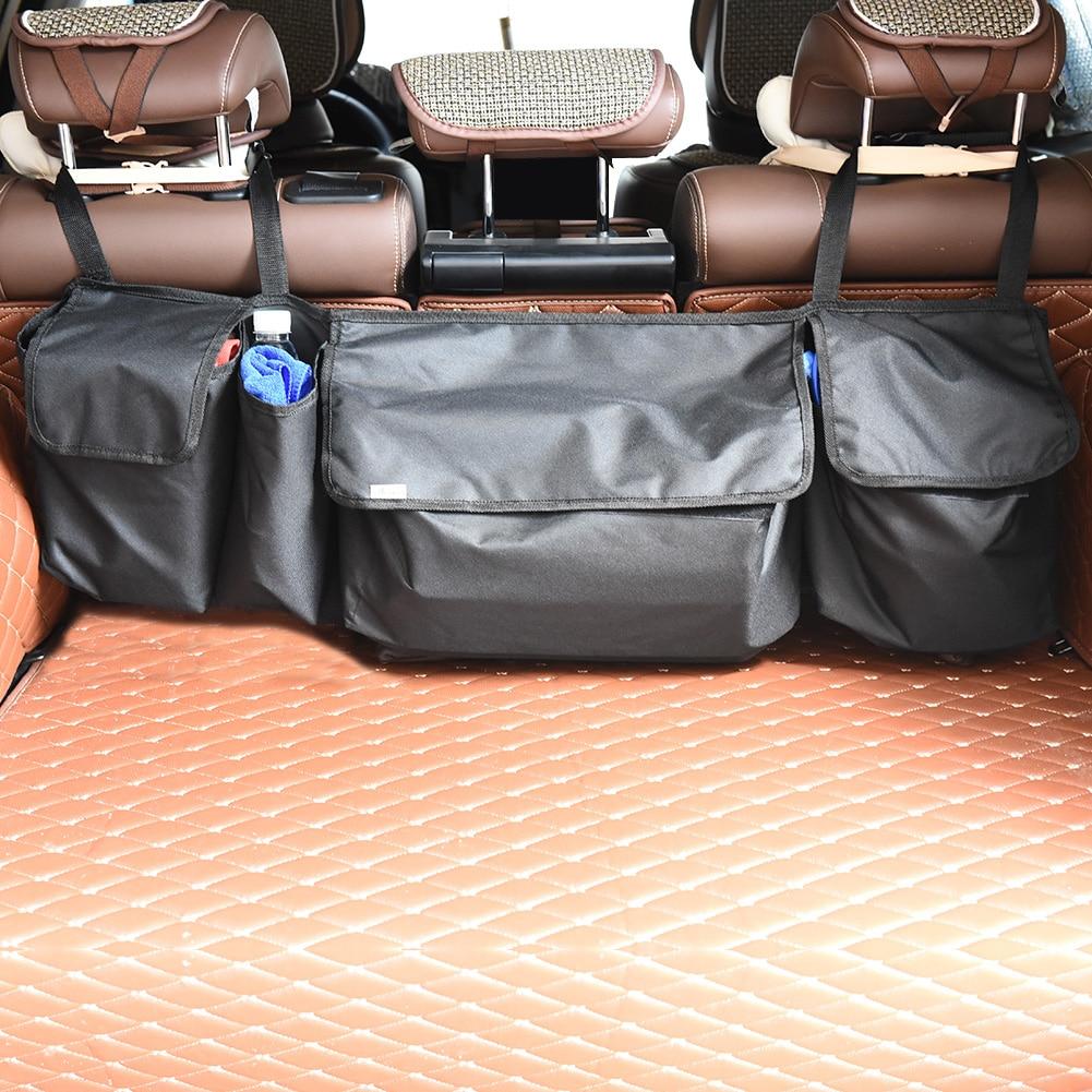 CARGOOL Car Foldable Trunk Organizer Adjustable Backseat Storage Bag Vehicle High Capaci ...