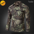 New 2016 Two pieces Sleeve Camouflage Quick-drying Men Thin Shirts Breathable Shirt Army Cargo Snake Texture Print Zipper pocket