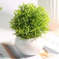 Ceramic Pot Christmas Artificial Plant Artificial Seaweed Green Plant Home Decoration Fake Plant Office/Festival/Car Decor