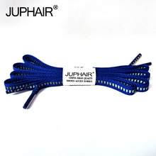 JUP1-12Pair Royal Blue Unisex Shallow Reflective Shoelaces Safety Invisible Running Sport Sneaker Basketball