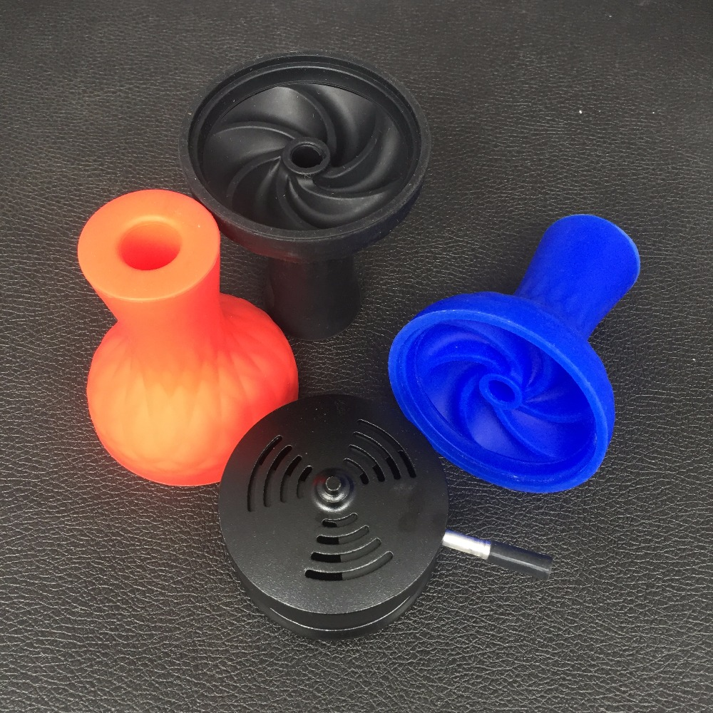 1pc Silicone Bowl And 1pc Charcoal Holder big kaloudCyclone silicone tobacco container hookah save tobacco big charcoal can use in Shisha Pipes Accessories from Home Garden