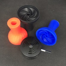 1pc Silicone Bowl And Charcoal Holder As 1 lot For Glass Shisha Hookah Black Red Smokers Tobacco hookah
