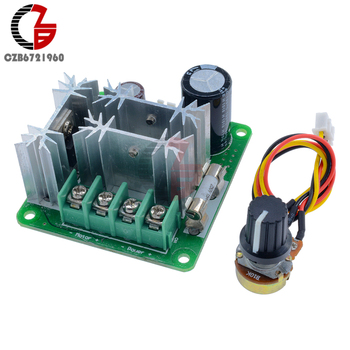 6-90V Voltage Regulator 15A DC Motor Speed Controller Pulse Width PWM Speed Regulator Switch image