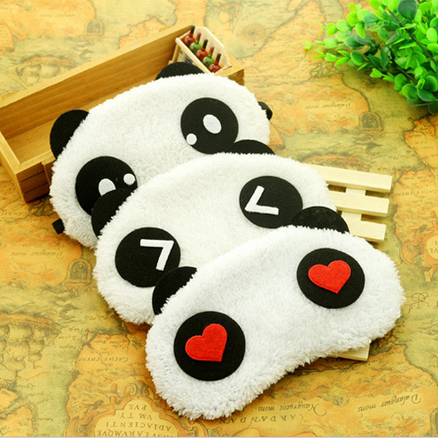 Hot Comfortable Korean Style Soft lovely Cartoon Pure Cotton sleep Eye Shade Cute Animal shading Ice Portable Hot Panda Eye Mask 3