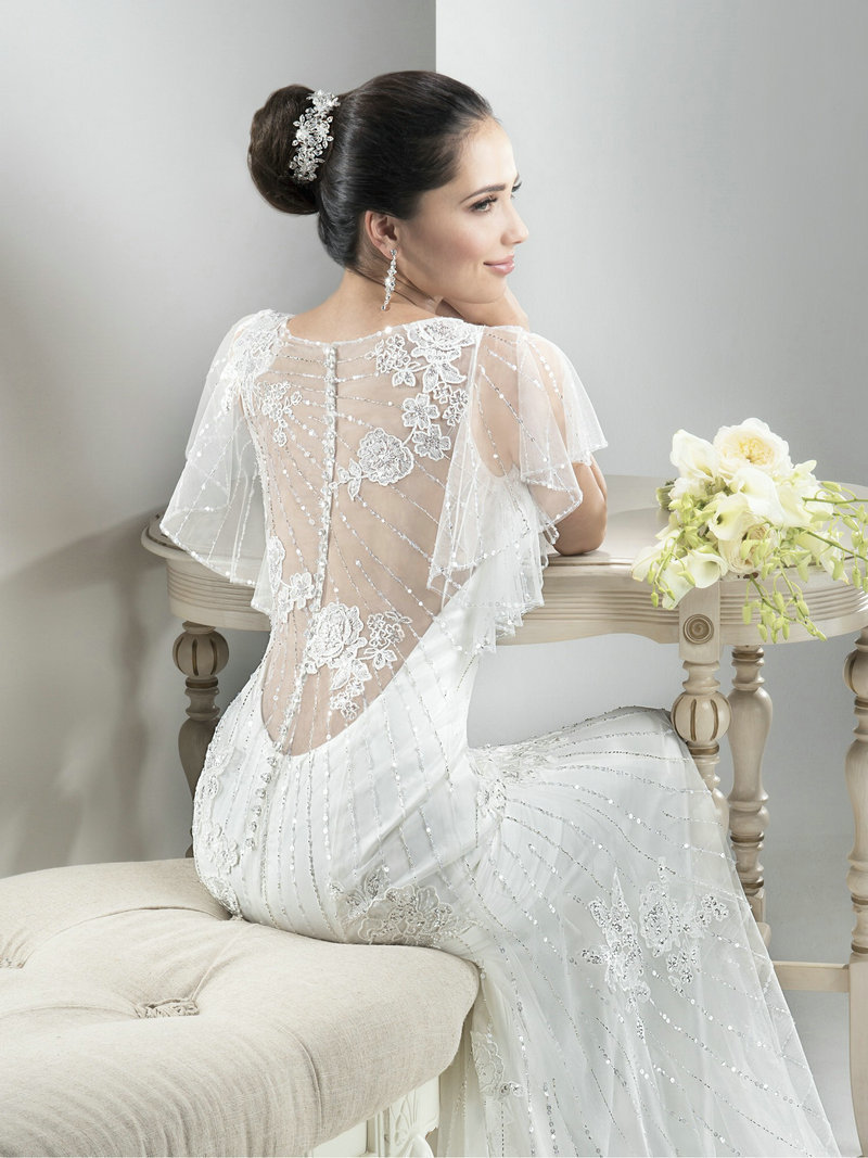 1105f1d814ada Mermaid Wedding Dress Illusion Back Luxury Crystal Vestidos Batwing Sleeves  Organza White Mermaid Wedding Dress Vestido De Festo-in Wedding Dresses  from ...