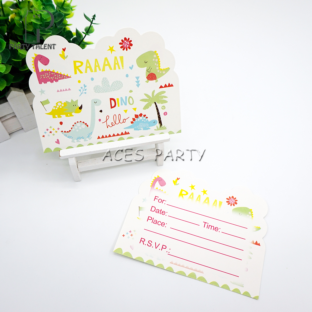 Party supplies 8pcs dinosaur theme invitation card invitations for party supplies 8pcs dinosaur theme invitation card invitations for kids birthday party decoration in cards invitations from home garden on stopboris Gallery
