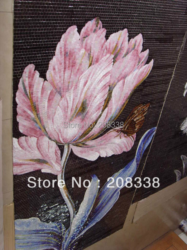 Freeshipping Tablet Europe Mixed Building Materials Bathroom Tiles Glass Mosaic Pattern Art Picture China