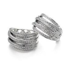 Luxury Knot Earrings AAA Cubic Zirconia Micro Paved Hoop Earring Brass Brincos Aretes Copper Joyas Earrings For Women Wedding