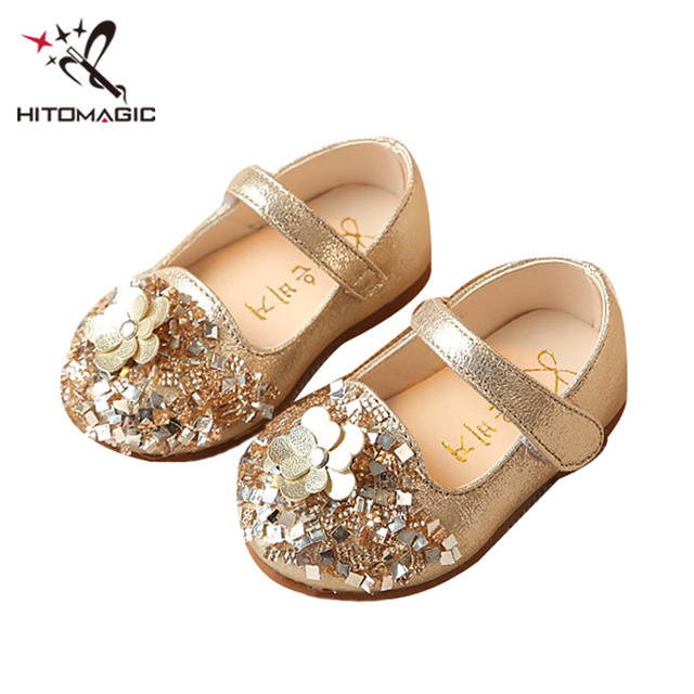 HITOMAGIC Baby Leather Shoes Girls Princess Shoes Fashion Toddler Kids  Footwear With Flower Soft Sole For Dance Dress 0-2 Years 255e84387393