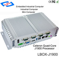 pc עם Intel Celeron J1900 Quad Core CPU Onboard 4G Fanless מחשב Box מיני PC עם VGA HDM RJ45 LAN USB GPIO תמיכה 3G / 4G / LTE / WiFi (3)