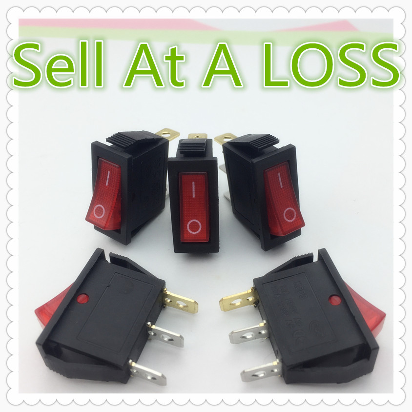 5pcs/lot RED LED Light 3PIN SPST ON/OFF G132 Boat Rocker Switch 16A/250V 20A/125V Car Dash Dashboard Truck RV ATV Home 2pcs lot red 4 pin light on off boat button switch 250v 15a ac amp 125v 20a p25