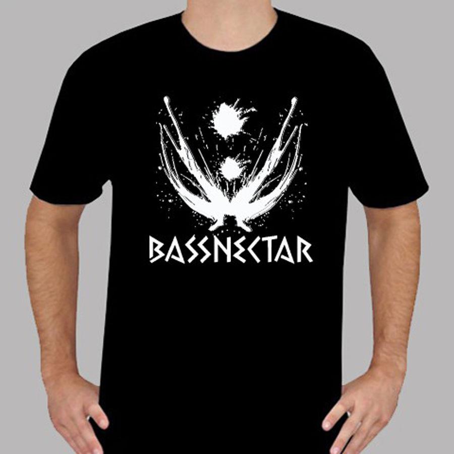 Custom Shirts Online Crew Neck Graphic New Bassnectar Logo Electronic Music Mens Black T-Shirt Size S to 3XL Short Sleeve