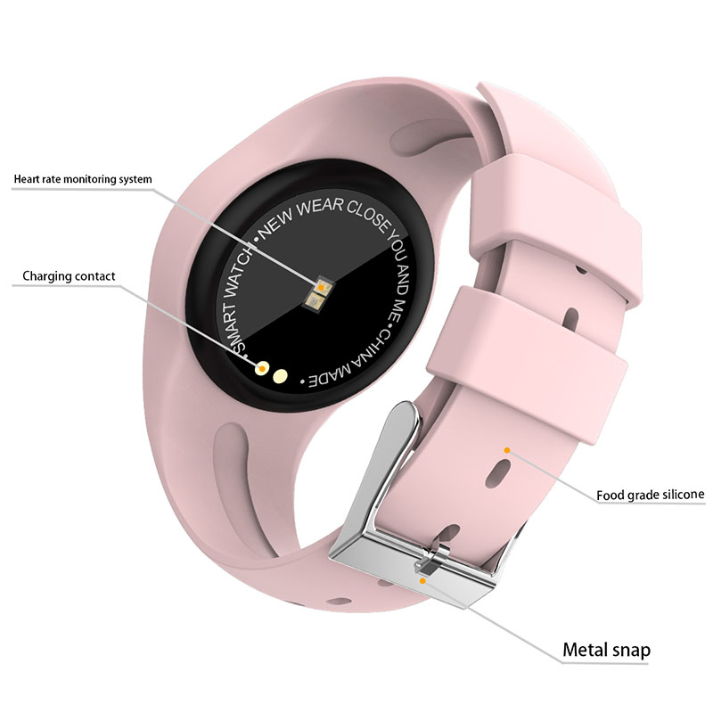 Image 3 - Women Smart Watch Fitness Bracelet Heart Rate Monitor Blodd Presssure Measurement Call Riminder for iPhone xiaomi Samsung Pink-in Smart Wristbands from Consumer Electronics