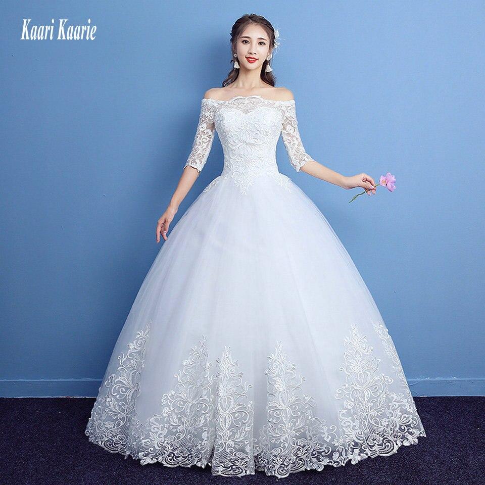 vestido de novia Advanced Ivory Wedding Dresses Long 2018 Wedding ...