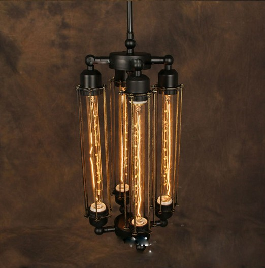 loft vintage pendant light steam punk wrought iron pendant light lamps
