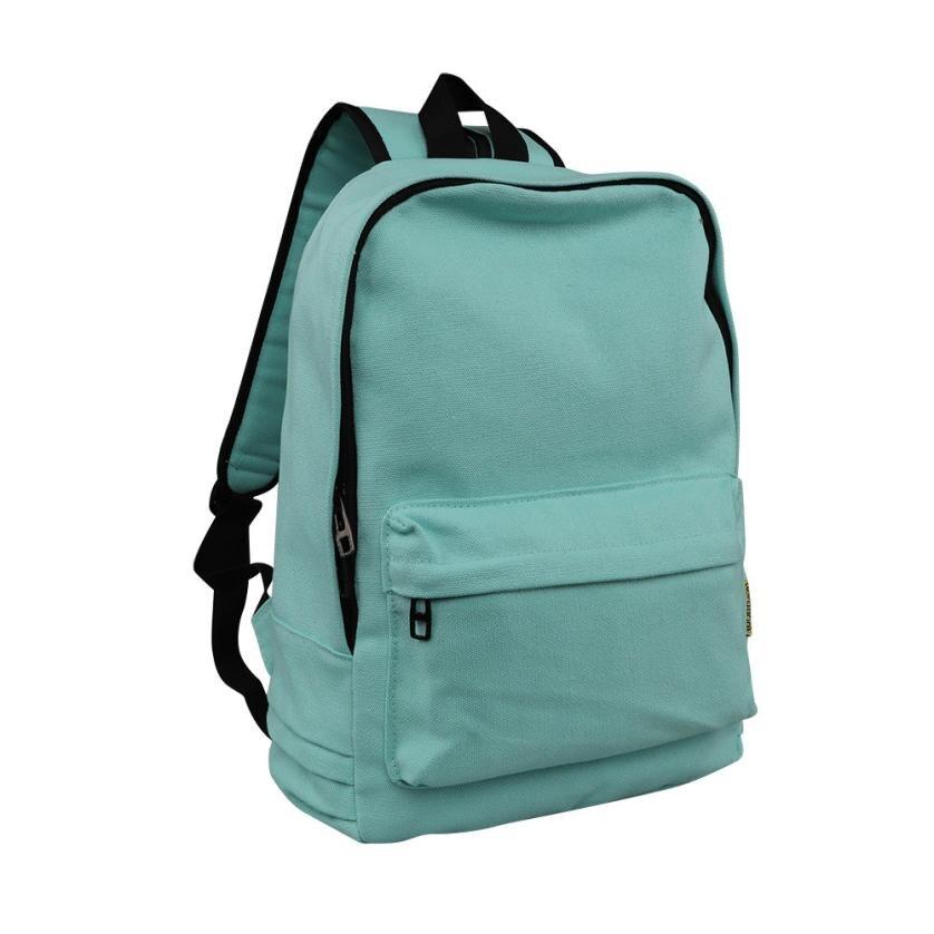 Solid color backpack, college wind pack, canvas computer bag, travel bag L124