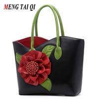 Luxury Handbags Women Bags Designer Brand Floral Women Messenger Shoulder Bag Women Leather Handbags 2017 Vintage