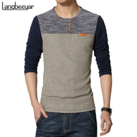 2014 New Fashion Brand Casual Men S Long T Shirt Solid Color Button Decorate Long Tee