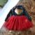 2017 Nova Princesa Menina Vestido de Festa Vestido tutu véu vestido de paetês vermelho Diamante de Couro Roupa Dos Miúdos do Aniversário de casamento