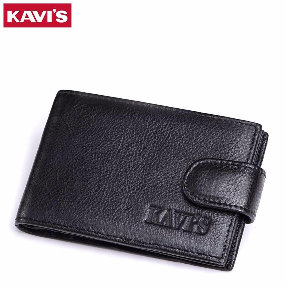 KAVIS Hot Sale Genuine Leather Unisex Card Holder Wallet Female Capacity Credit Business ID Cards Holders