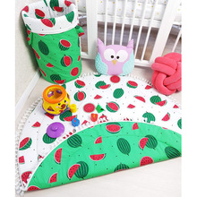 Ins Summer Two-color Watermelon Baby Play Game Crawling Mat Childrens Room Decorative Carpet Kids Air Conditioning Cover Pads