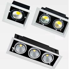 1 шт. белый Высокое качество поверхностного монтажа Регулировка светодиодный COB затемняемый светильник s ac85-265V 10 Вт 20 Вт 30 Вт Светодиодный точечный потолочный светильник