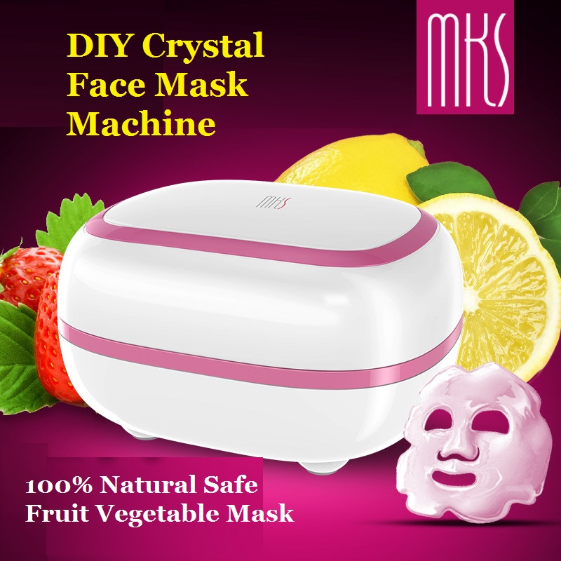 2018 New High Quality MKS CRYSTAL Face Mask Machine 100% Natural DIY Fruit Vegetable Mask Facial Mask Maker Mask facial machine 1 set professional face care diy homemade fruit vegetable crystal collagen powder facial mask maker machine skin whitening