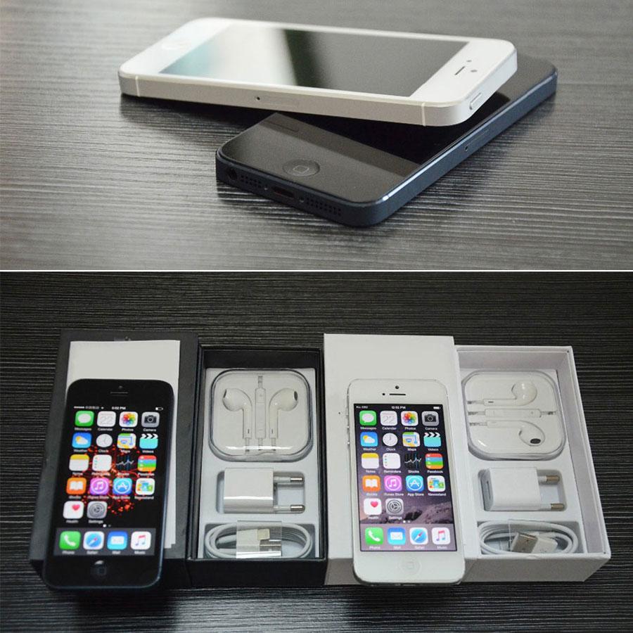 Débloqué Original iPhone 5 16 GB/32 GB/64 GB ROM double-core 3G 4.0 pouces écran 8MP caméra iCloud WIFI GPS IOS OS téléphones portables - 2