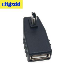 Image 4 - Cltgxdd USB dişi Mini V3 USB Erkek 90 Derece Aşağı doğru Açı Sol Açılı OTG Adaptörü için Araba AUX Tablet Siyah Konektörü
